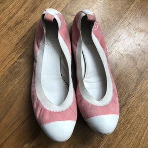 Chanel Flats Suede Pink 9